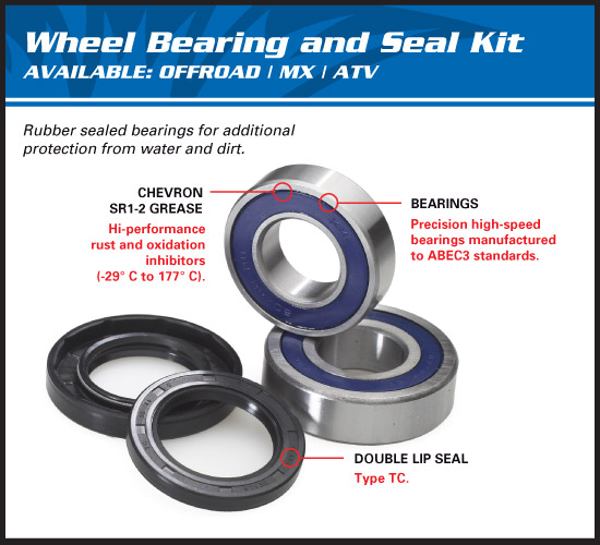 Motorcycle Wheel Bearings & ATV Wheel Bearings